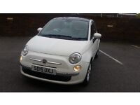 Fiat 500 lounge 15 plate 2015 white very low mileage alloy wheels air con very clean