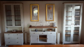 Ikea matching Sideboard, Glass Display Cabinet & Welsh Dresser with glass cabinet