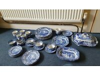 Spode Italian Blue Job lot