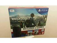 Playstation 4 Slim WATCH dogs 1 and 2