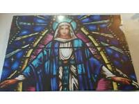 Religious light up canvas