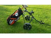 MKIDS Kids Junior Golf Clubs, Bag & Trolley