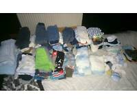 Job lot baby boy clothes 0-3&3-6 months