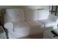 Ikea cream 3 seater sofa. Removable, washable covers