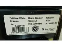 Conqueror Brilliant white contour paper