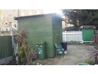 9ft x 8ft X 8FT High Garden Shed Workshop 1 year old Good Condition