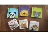 6 babt touch and feel sensory books