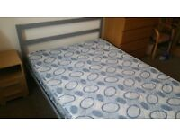 Double Bed metal frame clean
