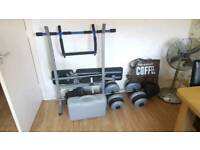 Freeweights, bar and Bench