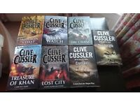 Selection of Clive Cussler Books