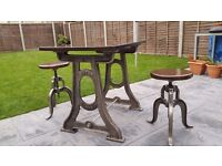 Singer vintage industrial table antique