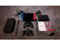 Nintendo Switch Bundle - Super Mario Odyssey - Pro Controller - Case - Stand