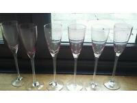 Wine or champagne glasses