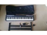 Casio cdp100 with £50 soft case, x stand , sustain pedal, original box excellent condition