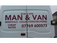 MAN&VAN/TIP RUNS/SAME DAY SERVICE/PART REMOVALS/SINGLE ITEMS MOVED/CHEAP RATES/ALL AREAS COVERED/