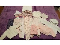 Baby girls clothes first size 0-3 monthz