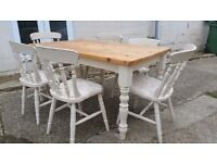 Upcycled Dining Table and Chairs