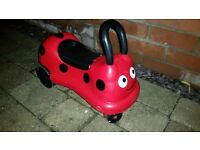 Helmutz kids ladybird helmet and matching ELC ladybird ride on toddler/ baby quad bike