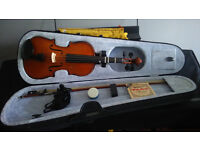 premavera violin 3/4 size with hard case new condition