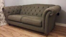 Stunning Chesterfield Three Seat Sofa. Like New!