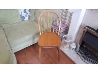 Vintage Retro Style Ercol Style Country Cottage Style Chair Bedside Table Hall Dining Chair