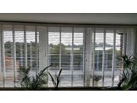 3 x White Faux Wooden Blinds