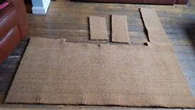 Natural coir matting off cut