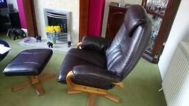 Reclining chair with Matching Stool