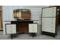 G plan retro dressing table and chest of drawers