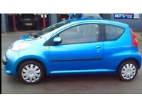 2007 Peugeot 107 1L 3Dr Petrol Manual (1 years MOT and NO advisories) Great Condition