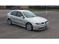 L@@K.. SEAT LEON 1.8 20V TURBO CUPRA LONG MOT DECATTED POPS AND BANGS BOOST GAUGE ETC PULLS WELL