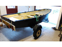 Mirror dinghy + trailer, sail number 19450, made 1969