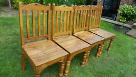 Seeshum wood dining chairs