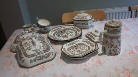Assorted pieces of Indian Tree china