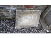 13 rectangle concrete paving slabs, been used good condition