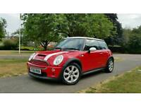 2006 MINI COOPER S 1.6CC*CHILLE RED/WHITE*HPI CLEAR*1 YEAR MOT*2 OWNERS*3 KEYS*ALLOY WHEELS