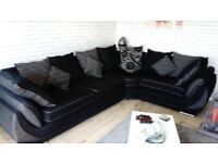Lovely SCS corner sofa purchased Nov 16 has foam cushion seats also comes with a fabric care kit