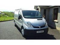 2010 vauxhall vivaro van, Silver, LWB, 131000 miles, roof rack, no VAT