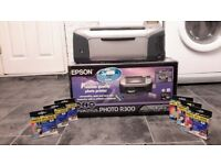 EPSON R300 PHOTO PRINTER WITH SIX CARTRIDGES