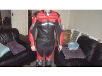 scott 2 piece motorcycle leathers size medium