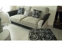 3 seater sofa with swivel chair, Foot stool and ottoman