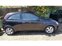 1.2 Black vauxhall corsa 2004,MOT til march,new front wipers,good tyres,good on fuel,good heating