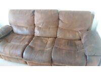 *FREE* 3 seater sofa dual recliner