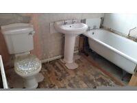 Complete bathroom Suite - kaldewel steel bath