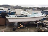13ft dory 15hp four stroke and trailer ideal fishing boat