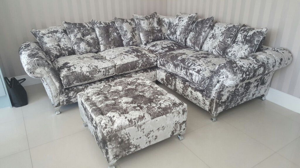 new style 95ef5 31068 4.8 metre 5 Seat Brand New Hand made Large Chesterfield Lustro Crushed  Velvet Corner Sofa | in Halesowen, West Midlands | Gumtree