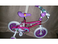 childrens girls bike, hardly used