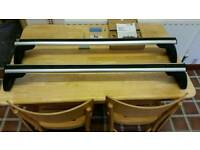 Genuine set of fixed point BMW E87/E90 roof bars for 1 series and 3 series