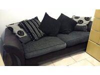 Large 3-4 seater DFS sofa Black /grey