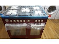Baumatic BCD925BDY 90cm Dual Fuel Range Cooker - Burgundy